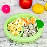 Hackneyed Small Spill Proof Children's Food Warming Plate or Feeding Dish(Warming Plate_Random Color)