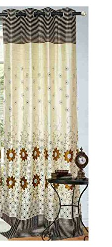Beautiful Plain Design Navy Blue Color Eyelet Polyester Curtain ...