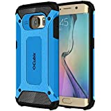 Cubix Slim Armor Case For Samsung Galaxy S6 EDGE (Blue)
