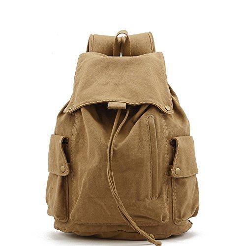 Uomini e donne zaini in tela elegante borsa da viaggio di piacere zaino dello studente,A B