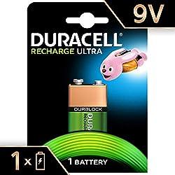 Duracell Recharge Ultra Piles Rechargeables type 9V 170 mAh, Lot de 1 pile