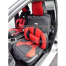 Para adaptarse a un Dodge Caliber, fundas para asiento, BO1Rossini Malla Deportivo Rojo/Negro