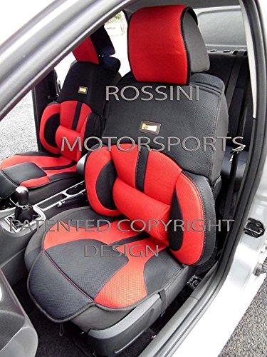 Ideale per una mini Cooper D, coprisedili per auto, BO1ROSSINI rete sport rosso/nero
