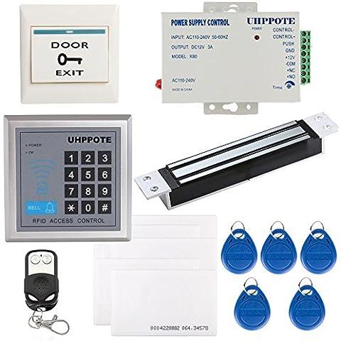 Generic completo de 125KHz tarjeta de identificación sola puerta de Control de acceso con cerradura magnética 280 kg con mortaja BuyBits 110-240V fuente de corriente alterna
