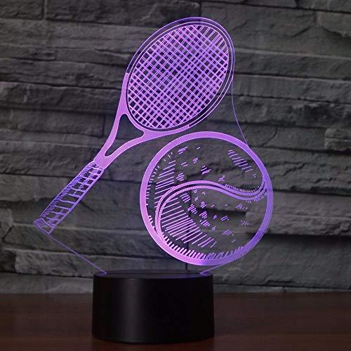 Aoyumsf 3D Nachtlicht 7 Farbwechsel Usb 3D Visuelle Tennis Nachtlicht Led Usb Tischlampe Tischlampe Beleuchtung Netzwerk Fans Geschenke - Netzwerk-boot
