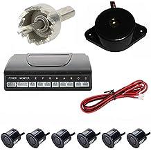 eclear aparcamiento copia de seguridad Radar reverso sistema de alerta de sonido + 4Sensores de aparcamiento, Sensor de aparcamiento marcha atrás Kit pantalla LED