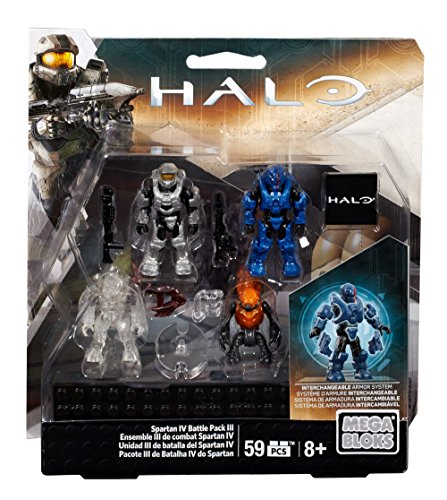 Mega Bloks Halo Spartan IV Battle Pack III (Halo-action-figuren Waffen)