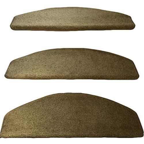 Teppiche Natural Area, Naturfaser Magic Button, Treppenstufen (Set 13, Licht Tan) (Farbe : Curved, größe : 90x24x3cm) - Rechteck, Tan Teppich