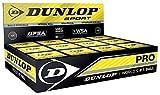 Dunlop Pro Confezione 3 Palline da Squash, Doppio Punto Giallo, Nero