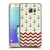 Head Case Designs Anker Und Chevron Marine Muster Ruckseite Hülle für Samsung Galaxy S6 Edge+ / Plus