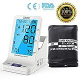 Blutdruckmessgerät,THZY Digitale Automatisches Oberarm-Blutdruckmessgerät mit LCD Großem Display eicht lesbarem, CE und FDA Zertifizierung, Arrhythmie-Anzeige für präzise Blutdruckmessung