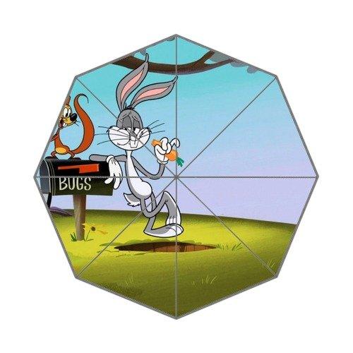 bugs-bunny-custom-foldable-rain-umbrella-wind-resistant-windproof-floding-travel-umbrella