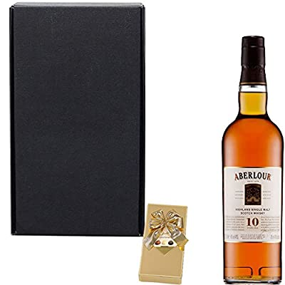 Aberlour 10 Year Old Single Malt Scotch Whisky Fathers Day Gift Set With Handcrafted Gifts2Drink Tag