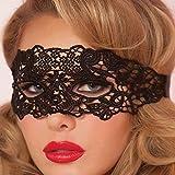 BHOOLU&GOOLU Women's Lace Eye Mask for Masquerade Fancy Dress Costume(M5)( Black