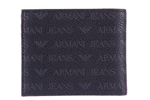 Armani Jeans Logo Billfold Homme Wallet Noir Black