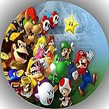 Fondant Tortenaufleger Tortenbild Geburtstag Super Mario T1