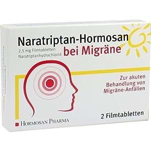 NARATRIPTAN Hormosan bei Migraene 2,5 mg Filmtabl. 2St
