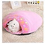 Venta caliente 1 unid Productos Para Mascotas Suave y Cálida Casa Gato Saco de dormir Precioso...