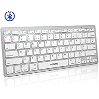 Bluetooth Keyboard【Ultra-Slim & Portable】VicTsing Ergonomic Lightweight Wireless Keyboard Quick and Simple Connect to iPad, Tablet, Smartphone, Mac OS, Windows, Android etc. – Power Saving, UK Layout