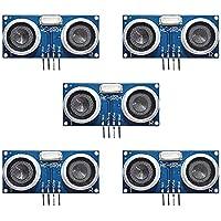 Electrely 5Pcs HC-SR04 módulo de sensor ultrasónico, módulo transductor de medición de distancia para Arduino UNO MEGA2560 Raspberry Pieza