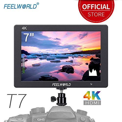 Feelworld T7 7 Zoll On Kamera Field Monitor von Campo Camera DSLR Small HD Focus Video Assist 1920x1200 IPS mit 4K HDMI Input Output Aluminiumgehäuse Kamera Hd Dslr Monitor