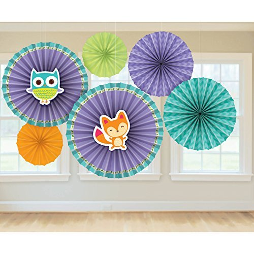 Amscan 291452 Woodland Welcome Papier Fan Dekorationen