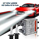 EASY EAGLE H7 Xenon HID Canbus Birnen Kein Fehler Decodierung Ballast Scheinwerfer Umbausatz 55W 6000K Ersetzen für Halogen