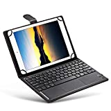 Hemotrade 3-in-1-Universal-Bluetooth-Tastatur-Touch-Control-Tablet-Tasche mit Ständer für iOS/Android/Windows 9/10 Zoll (Color : Black)
