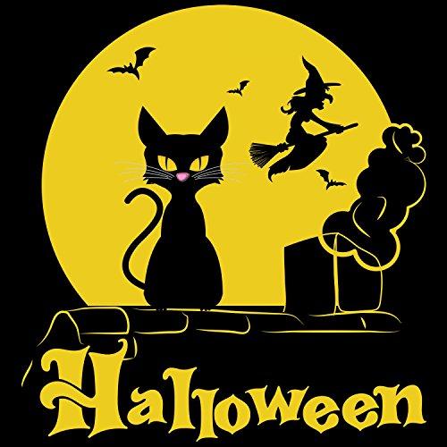 Halloween Katze - Damen T-Shirt von Fashionalarm | Fun Shirt Horror Kostüm Karneval Fasching Verkleidung Schwarz