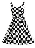 Bbonlinedress 1950er Vintage Polka Dots Pinup Retro Rockabilly Kleid Cocktailkleider Damier M