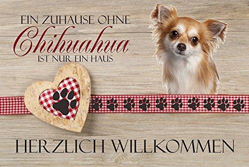 Fussmatte ' Ein Zuhause ohne Chihuahua ist nur ein Haus! '- Fussmatte bedruckt Türmatte Innenmatte...