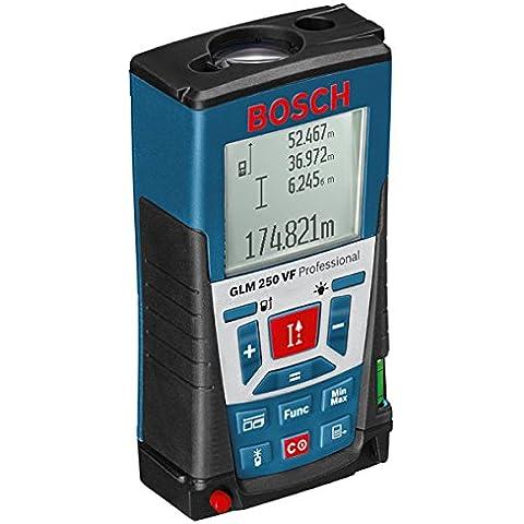 Bosch GLM 250 VF - Nivelador láser (5h, Alcalino, 1.5V, 12 cm, 6.6 cm, 3.7 cm) Negro, Azul, Rojo