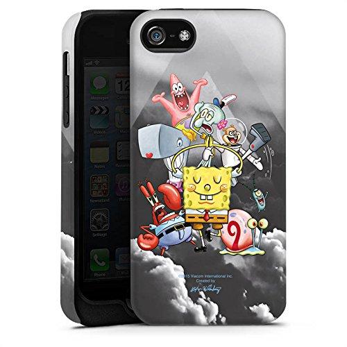 Apple iPhone X Silikon Hülle Case Schutzhülle Spongebob Fanartikel Merchandise Spongebob Crew Tough Case matt