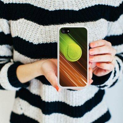 Apple iPhone 5 Housse étui coque protection Tennis Balle de tennis Rapide Housse en silicone blanc