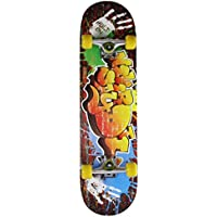 Gemgo skateboard 9 couches Maple Doodle Motif concaves de patinage à roulettes