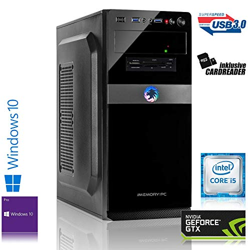 Memory PC Intel PC Core i5-7500 4X 3.4 GHz, 8 GB DDR4, 240 GB SSD + 1000 GB Sata3/-600, NVIDIA GeForce GTX 1650 4GB 4K, Windows 10 Pro 64bit