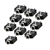 10 Pcs 3 Pin PCB Mount Buchse 3.5mm Stereo Klinkenbuchse Anschluss DE