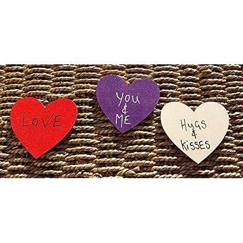 Magnete, 3 x 7 cm, a forma di cuore, motivo: aforisma, personalizzabile, con scritta
