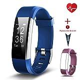 Fitness Tracker [Aktualisierte Version], CHEREEKI Herzfrequenzmonitor Activitätstracker IP67 Wasserdicht, Uhr Armband Schrittzähler mit Alarm Kalorienzähler Schlafüberwachung SMS Benachrichtigung