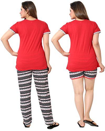 AV2-Women-Red-Graphic-Top-Pyjama-Shorts-Set