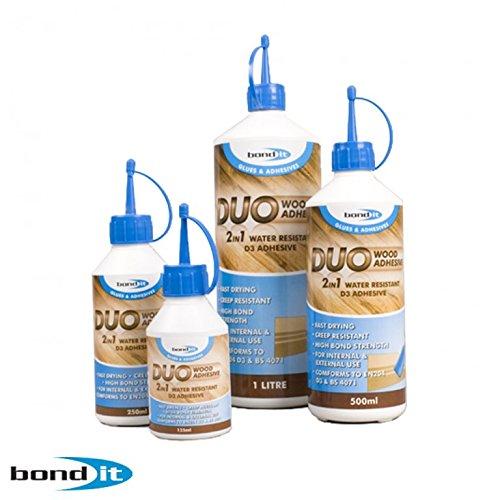 Bond It PVA 2in 1, Holz, Klebstoff, schnelltrocknend und wasserabweisend, weiß