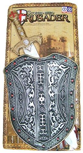 Ritter Set Schwert und Schild Rot - Schönes Zubehör zum Kinder Mittelalter Kostüm