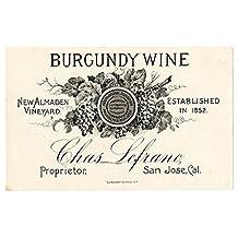 Etiquetas de botella de vino exclusiva casa para Viña Inicio entusiasta, 100 etiquetas, 9