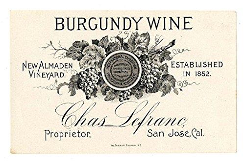 100 Wein Flasche Etiketten für Homemade Wein making- schälen und Stick Large Größe 9 x 12 cm (Papier-wein-flasche-tags)