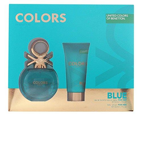 Benetton Colors Blue Eau De Toilette Spray 50ml Set 2 Artikel 2016 -