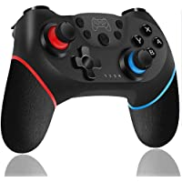 WonDa Controller Switch, Switch PRO Controller Bluetooth, Switch Gamepad Joystick con Turbo Regolabile Dual Motor…