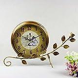 Block clock clocky Art Eisen Tisch Uhr / Sweep Sekunden stille Bewegung / Eisen Pendel Uhr Ornamente Uhr