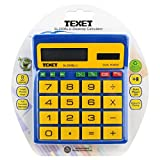 TEXET Sl200BLUE Big Key Calculator  |  Dual Power: Battery and Solar Operated  |  Colour - Blue & Yellow  |  Bacterial Resistance
