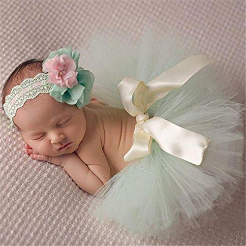 Kostüm Baby Blume - Yesiidor Rock Baby Mädchen Foto Fotografie Outfits Baby Kostüm Tütü Rock Blumen Stirnband