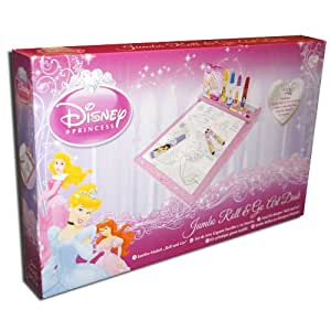 Official Disney Princess Jumbo Roll & Go Colouring Art Desk with Paper, Markers & Crayons!